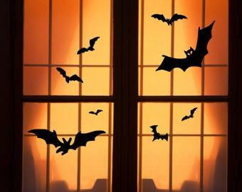 reusable halloween window clings bats large wch 1019