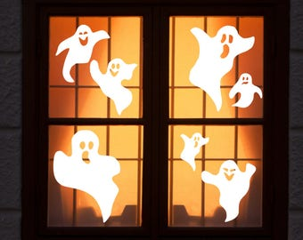 large reusable halloween window clings ghost window clings wch 1018