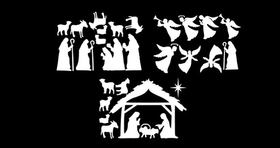 Large Nativity Window Clings Reusable Manger Scene Window Decorations Christmas Window Decal