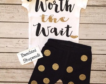 c4b492fc6c60 Baby Girl Clothes Worth the Wait Bodysuit Worth The Wait Bodysuit   Pants  Set