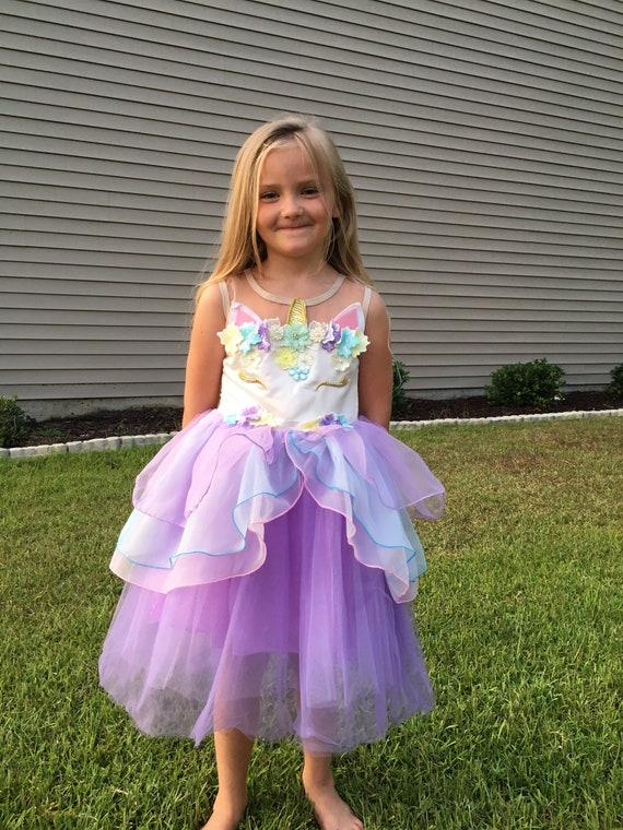 Girls Unicorn Birthday Party Dress Outfit