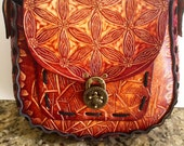 Purse Carved Flower of Life Large