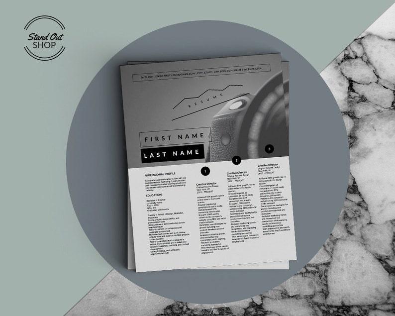 Infinite Designs Microsoft Word Template 3-in-1 Package One Resume