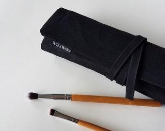 Makeup brush roll, makeup organizer, makeup brush holder, brush organizer, travel makeup roll, cosmetic brush roll, bachelorette gift