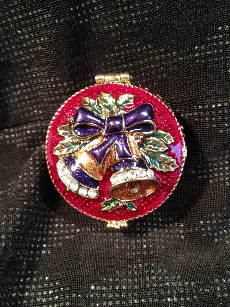 Hojas De Otoño Vintage copper//silver//gold tono Broche Pin Antiguo efecto Caja De Regalo