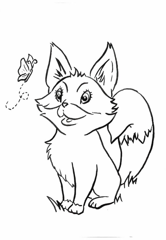 Forest Baby Animals Coloring Pages Etsy