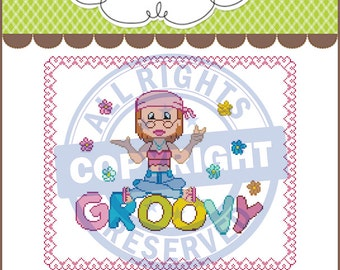 Groovy Girl Graphghan,Graphghan,Crochet Pattern Graph,Chart,PDF Instant Download
