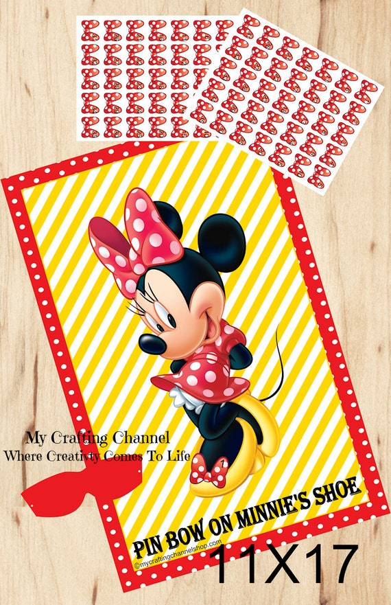 bathroom decoration vintage mickey minnie decor mouse.htm birthday party game pin the bow on minnie s shoesbirthday etsy  birthday party game pin the bow on
