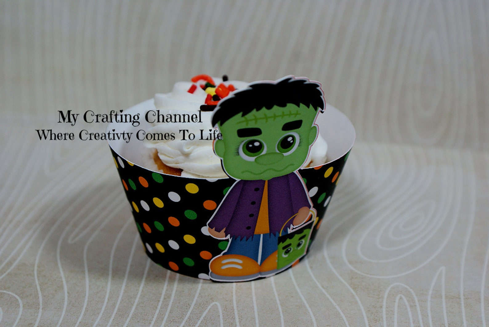Frankenstein Cupcake Wrappers