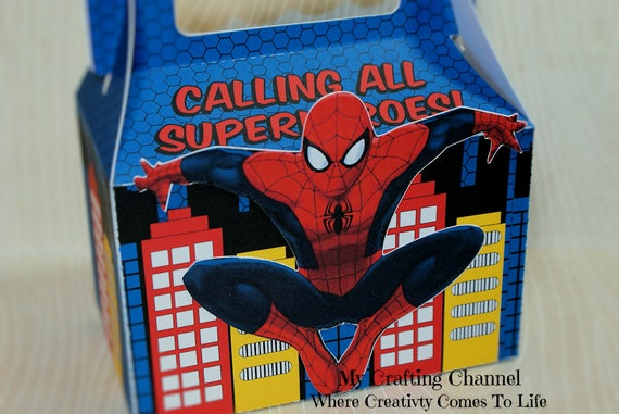 Set of 12 Large Personalized Spider-Man 2 Treat BoxFavor  d245495ea52e1
