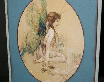 My Friend Fairy Card-Fairy Card-Friendship Card-Greeting Card-Handmade Card-Dimensional Card