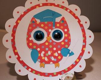 Graduation Layered Card-Graduation Card-Owl Card-Greeting Card-Handmade Card