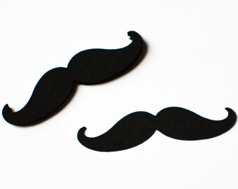 Mustache Die Cuts - Any Size And Color - Paper Mustaches - Mustache Cut Outs - Mustache Party - Black Mustaches