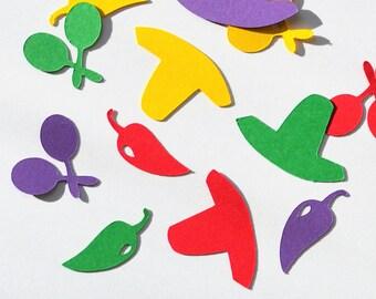 Cinco De Mayo Confetti - Cinco De Mayo Party - Cinco De Mayo Decor - Mexican Confetti - Cinco De Mayo - Pepper Confetti - Sombrero Confetti