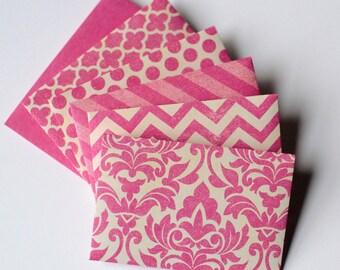 Rosa rosa regalo carta buste - buste rosa Distressed - buste - buste di carta regalo