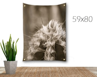 Desert Tapestry-Southwestern Wall Decor-Cactus Tapestry-Desert Wall Decor-Sepia Tapestry-Fabric Wall Hanging-Photo Tapestry-Outdoor Tapestry