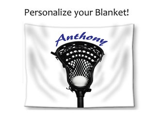 Lacrosse Blanket-Boys Lacrosse-Name on Blanket-Stadium Blanket-Bed Blanket-Sports  Blanket-Lacrosse Stick   Ball Blanket-Boys Bed Blanket 11faf6308