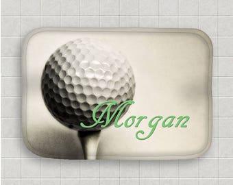 Bon Golf Bath Mat Personalized Bath Mat Golf Ball Bath Mat Microfiber  Mat Sports Decor Non Skid Mat Bathroom Floor Mat Golf Bathroom Decor