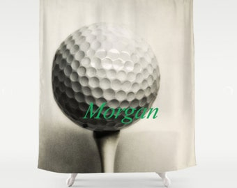 Golf Shower Curtain Personalized Custom Bath Decor Boy Bathroom Sports Girls