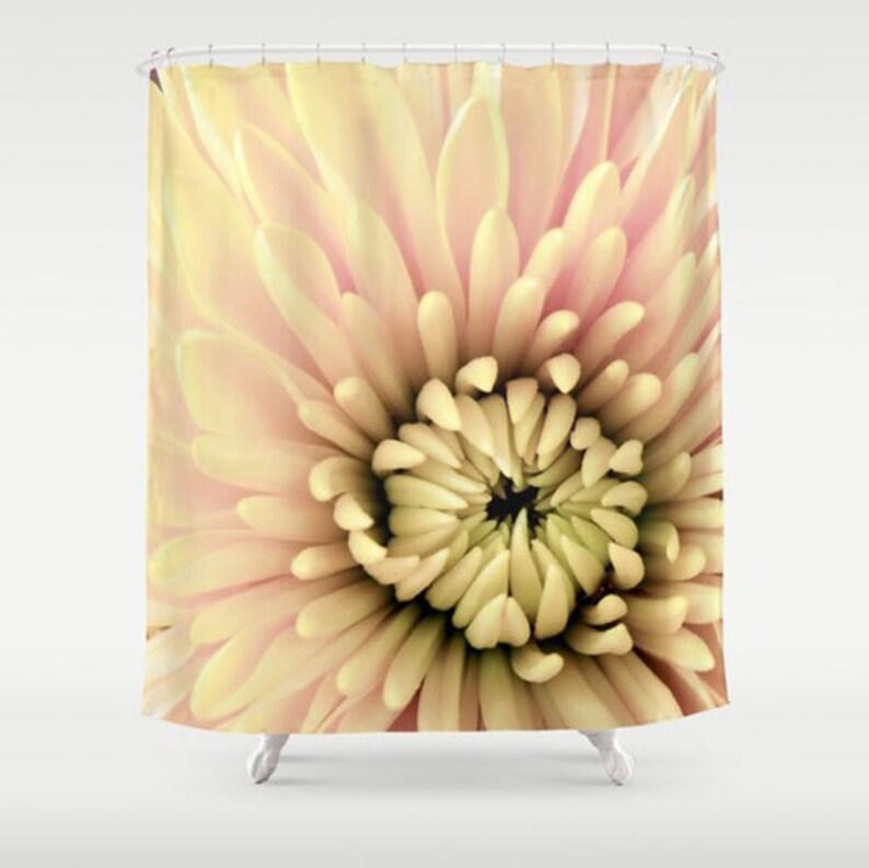Floral Shower Curtain Flower Bath