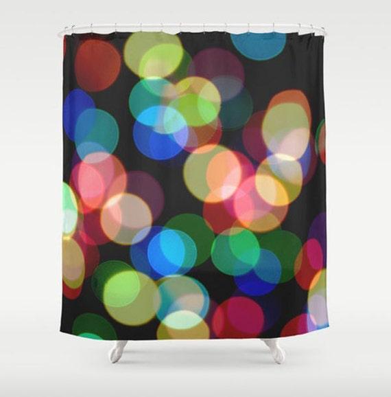 Rainbow Shower Curtain Whimsical Bathroom Dreamy