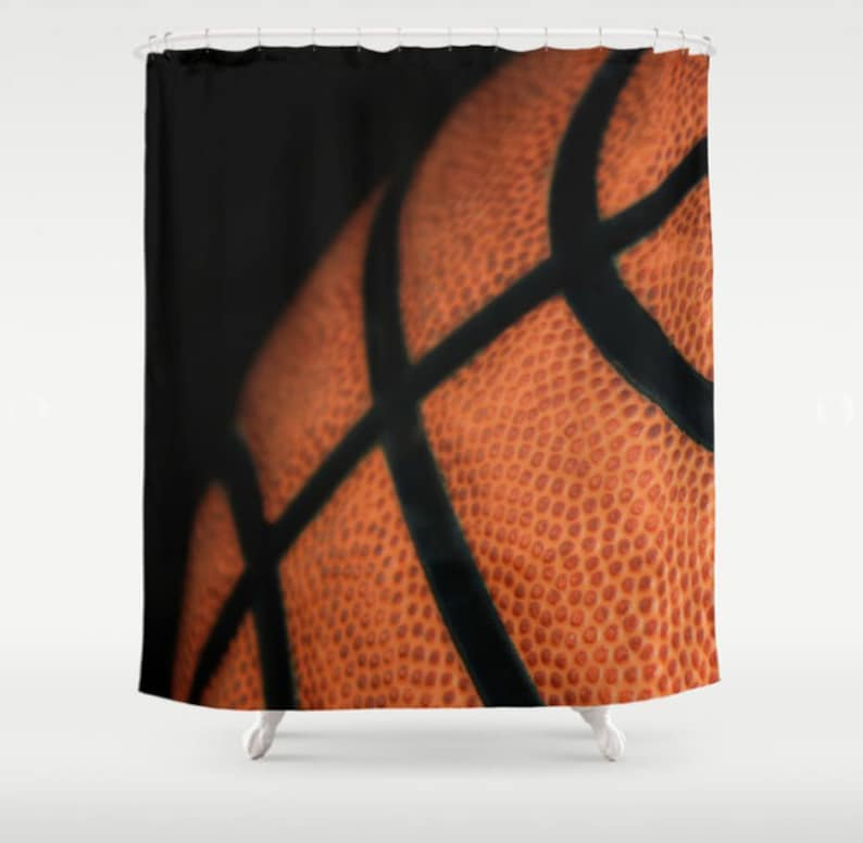 Basketball Shower Curtain Fabric