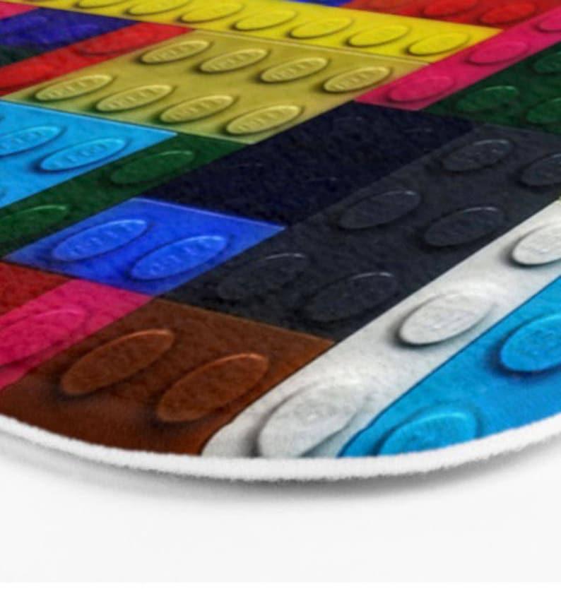Lego Bathroom-Lego Bath Mat-Kids Bathroom-Colorful Decor-Microfiber Mat-Lego Bath Decor-Foam Mat-Padded Floor Mat-Bathroom Floor Mat