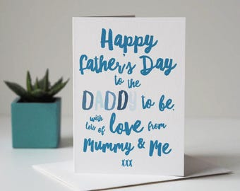 Daddy To Be Father's Day Card - Father's Day Card from Baby Bump - Card for Daddy - First Father's Day Card