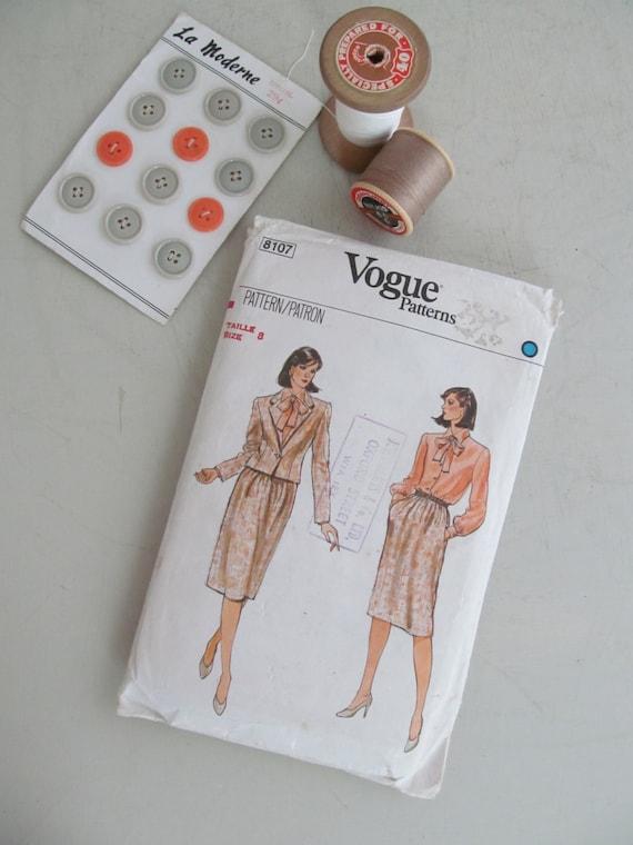 Patrón de costura de verdadero c1980s vintage VOGUE traje | Etsy