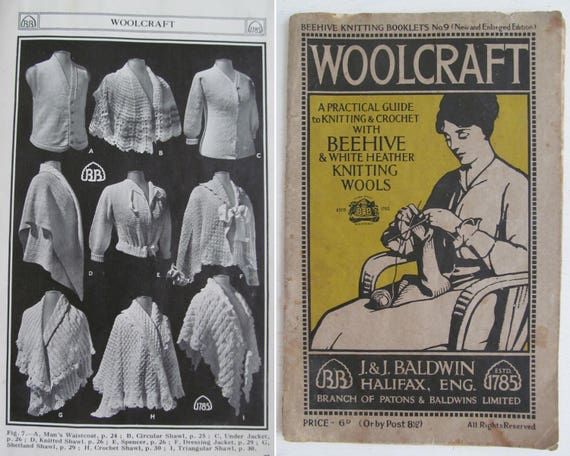 Evocative Antique Woolcraft Knitting Pattern Booksome