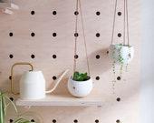 Moon pot - Ceramic hanging pot in white, plant hanger, hanging planter, home decor, gift idea