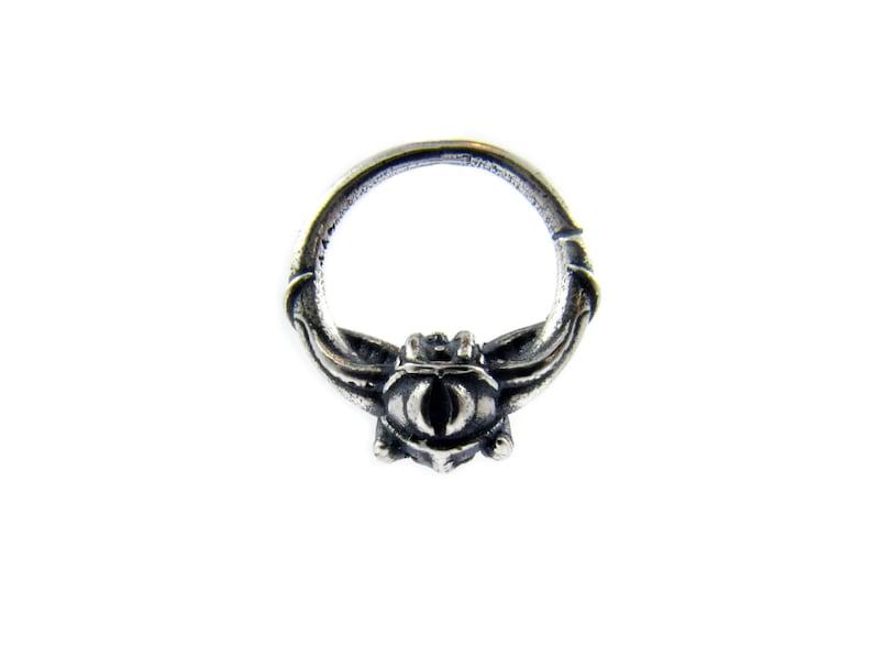 Septum ring 16g gothic jewelry occult jewelry biker image 0