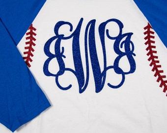 Monogrammed Raglan Baseball Shirt
