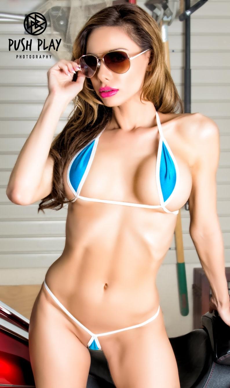 7a711058e8 Bitsy's Bikinis Aqua Blue Mini Teardrop Bikini 2pc Extreme   Etsy