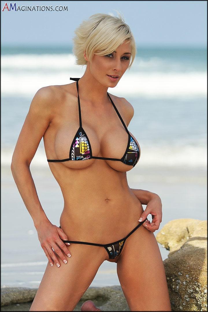 Busty tiny bikini