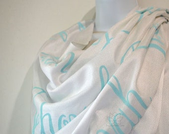 Custom Jehovah Names of God scarf, Personalized Spiritual Prayer Scripture Christian bible verse shawl gift for her Inspired With Love