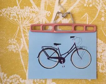 bobbin bicycle art print