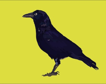 Crow bird art print