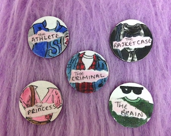 Pinback Buttons Badges Pins The Breakfast Club Quote Lapel Pin Brooch Clip Trendy Accessory Jacket T-Shirt Bag Hat Shoe