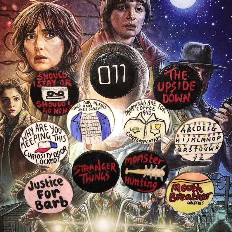 4912ca0c5 Stranger Things Badge Pin Set