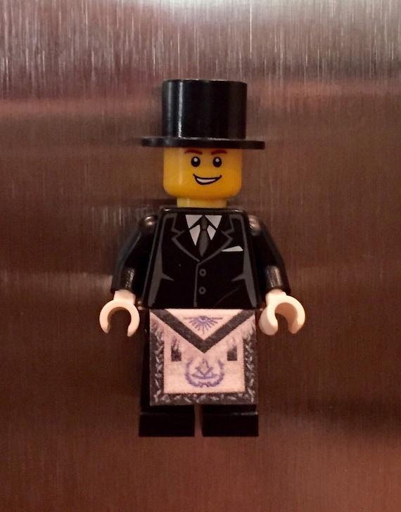 Lego Freemason Refrigerator Magnet