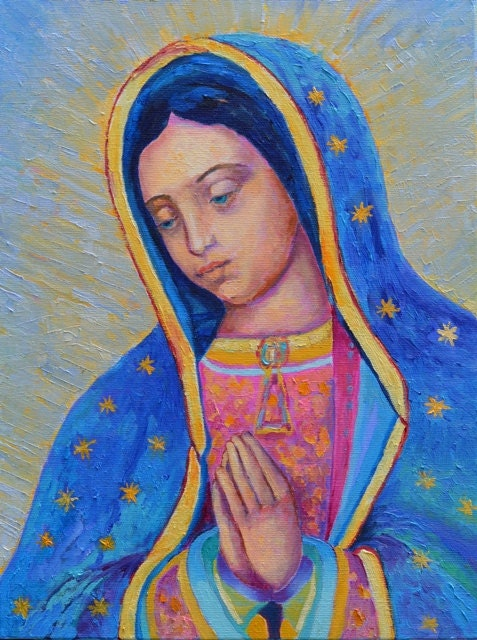 Our Lady Of Guadalupe Print Virgen De Guadalupe Virgin