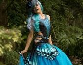 Stunning Ballroom Smooth dress, Butterfly dance costume, Blue dance dress