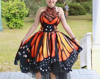 Evening / Prom / Party Monarch Butterfly Dress