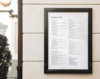 Minimal word menu, outdoor menu, restaurant menu template, restaurant menu,  café menu, simple menu, restaurant menu design, Menu Restaurant