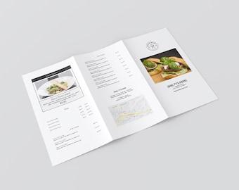 Restaurant menu template, Trifold Menu,  takeaway menu, catering menu, menu flyer, menu handout, instant download, ms word, google docs