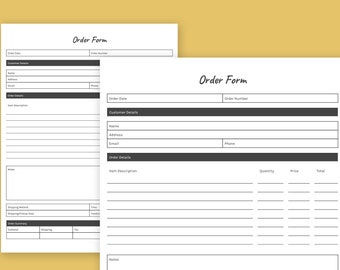 Catering Order Form, Order Form Template, caterer order form, Editable Order Form, Custom Order Form, Instant Download, catering template