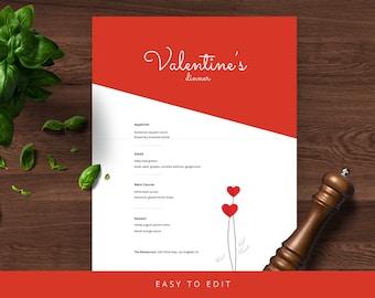 Valentine's day Menu, menu template, menu design, wedding menu, dinner menu,  catering menu, powerpoint, simple menu, elegant menu