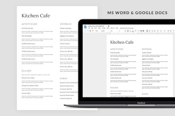 Minimal Word Menu Outdoor Menu Restaurant Menu Template Restaurant Menu Café Menu Simple Menu Restaurant Menu Design Menu Restaurant