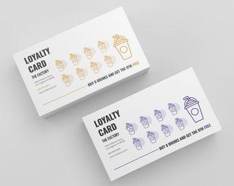 Loyalty Card, punch card, rewards card, loyalty card templates, rewards card design, google slides, powerpoint